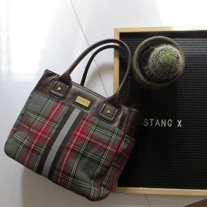 Tommy Hilfiger Plaid Satchel and Leather